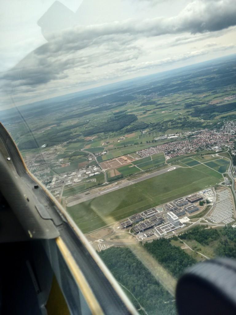 Luftbild vom Flugplatz Malmsheim